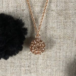 Vera Bradley Rad Fireball rose gold tone necklace